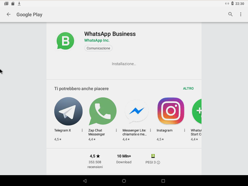 whatsapp business installazione